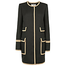 Buy L.K. Bennett Liman Textured Coat, Black Online at johnlewis.com