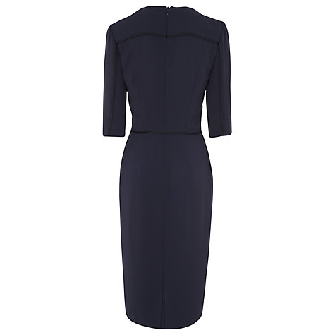 Buy L.K. Bennett Dali Square Neck Work Dress, Dark Navy Online at johnlewis.com