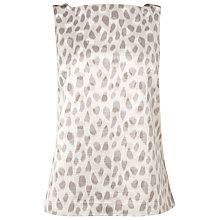 Buy L.K. Bennett Asilah Silk Embellished Shell Top, Grey Online at johnlewis.com