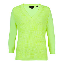 Buy Ted Baker Lills Mix Gauge Neon V-Neck Jumper Online at johnlewis.com