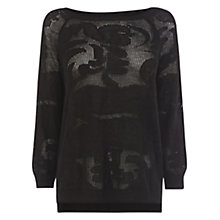 Buy Warehouse Double Button Back Pointelle Jumper Online at johnlewis.com