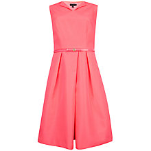 Buy Ted Baker Halina High Neckline Dress, Bright Pink Online at johnlewis.com