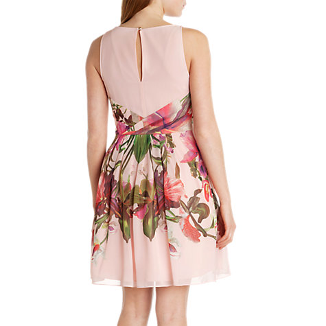 Buy Ted Baker Carli Symmetrical Orchid Print Dress, Nude Pink Online at johnlewis.com