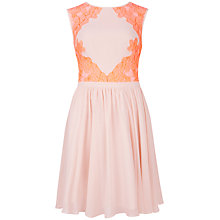 Buy Ted Baker Vember Lace Detail Dress, Nude Pink Online at johnlewis.com