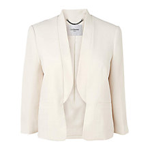 Buy L.K. Bennett Petal Tailored Jacket, Cream Online at johnlewis.com