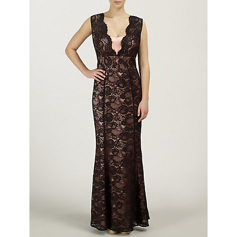 Buy Ariella Tania Long Lace Dress, Black Online at johnlewis.com
