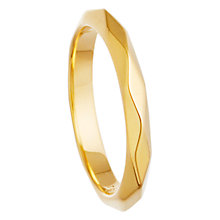 Buy Astley Clarke 18ct Gold Vermeil Plain Facet Ring Online at johnlewis.com