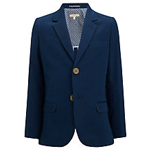 Buy John Lewis Heirloom Collection Boys' Mini Diamond Print Jacket, Blue Online at johnlewis.com