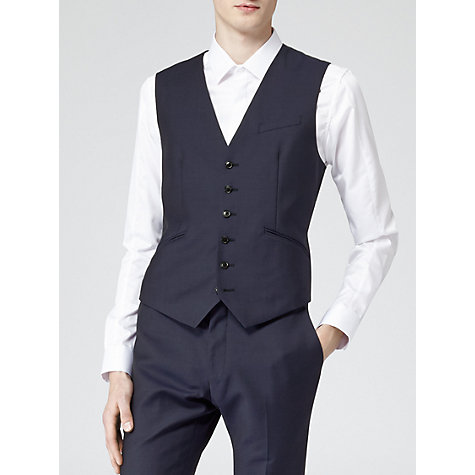 Buy Reiss Duke Lined Contrast Waistcoat, Navy Online at johnlewis.com