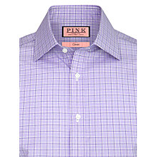 Buy Thomas Pink Lancaster Cotton Shirt, Purple Online at johnlewis.com