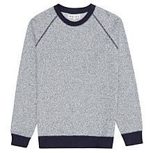 Buy Reiss Scorpio Melange Crew Neck Jumper, Grey Online at johnlewis.com