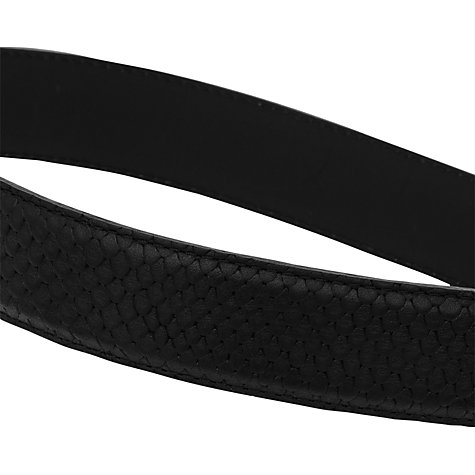 Buy Reiss Chuck Leather Belt, Black Online at johnlewis.com