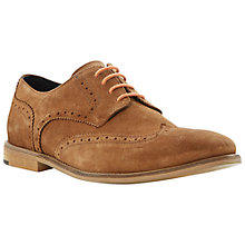 Buy Bertie Aston Suede Derby Brogue Shoes, Tan Online at johnlewis.com