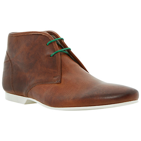 Buy Dune Canal Contrast Sole Leather Chukka Boots, Tan Online at johnlewis.com