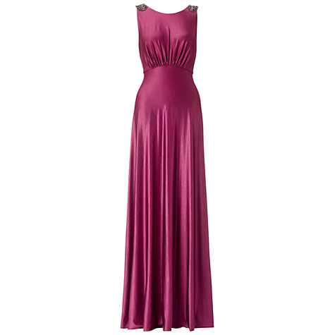 Buy Ariella Harper Jersey Long Dress, Magenta Online at johnlewis.com