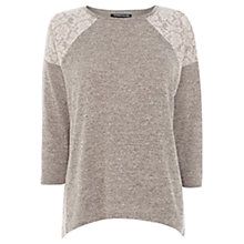 Buy Warehouse Lace Insert Marl Top Online at johnlewis.com