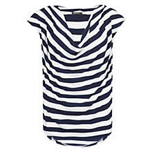 Buy Mango Striped Draped T-Shirt Online at johnlewis.com