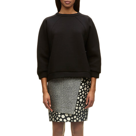 Buy Whistles Structured Neoprene Sweatshirt, Black Online at johnlewis.com