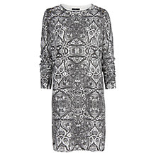 Buy Mango Baroque Print Dress, Black Online at johnlewis.com