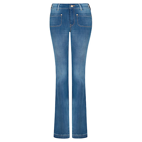 Buy Mango Flared Jeans, Medium Blue Online at johnlewis.com
