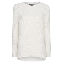 Buy Mango Chunky Knit Jumper, Natural White Online at johnlewis.com