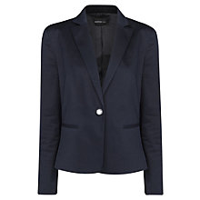 Buy Mango Engraved Button Blazer, Black Online at johnlewis.com