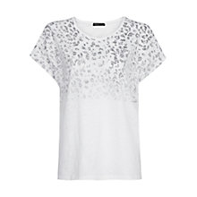 Buy Mango Animal Print T-Shirt, White Online at johnlewis.com