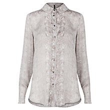 Buy Mango Snake Print Shirt, Dark Grey Online at johnlewis.com