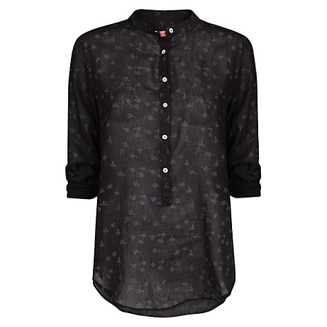 Buy Mango Printed Blouse, Black Online at johnlewis.com