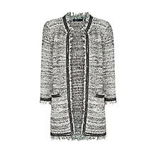 Buy Mango Bouclé Cardigan, Natural White Online at johnlewis.com
