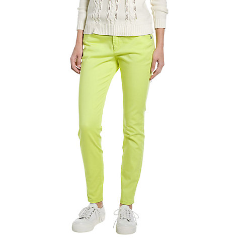 Buy Mango Slim Fit Cotton Trousers, Bright Green Online at johnlewis.com