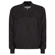 Buy Mango Tencel Bomber Jacket, Black Online at johnlewis.com