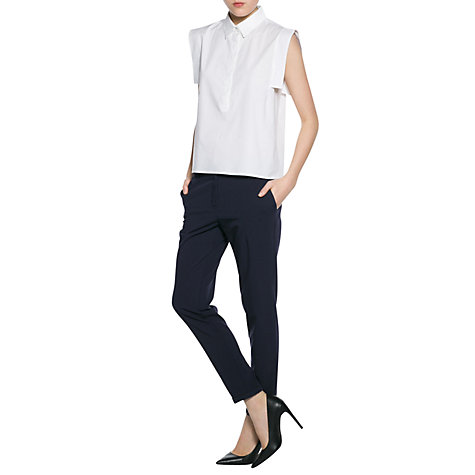 Buy Mango Shirt Collar Blouse, White Online at johnlewis.com