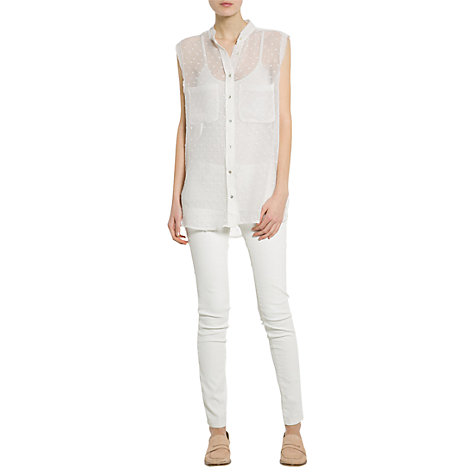 Buy Mango Textured Plumeti Shirt Online at johnlewis.com
