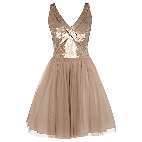 Buy Coast Paparazzi Sequin Dress, Mink Online at johnlewis.com