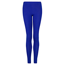 Buy Mango Essential Leggings, Bright Blue Online at johnlewis.com