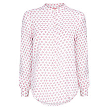 Buy Mango Printed Blouse, Medium Pink Online at johnlewis.com