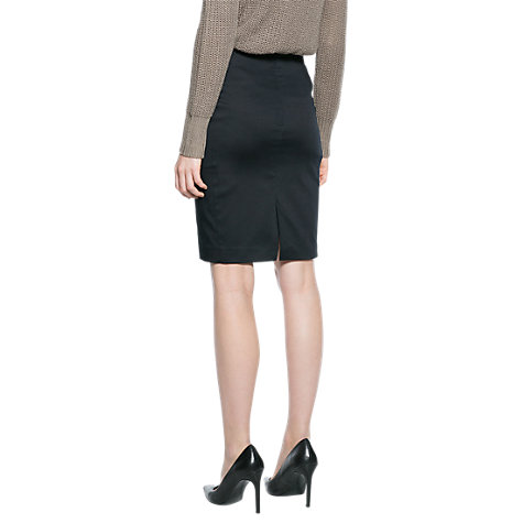 Buy Mango Pencil Skirt, Black Online at johnlewis.com