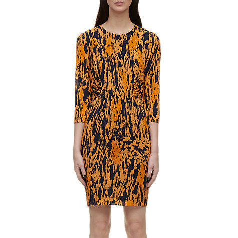 Buy Whistles Lorie Spray Print Dress, Orange Multi Online at johnlewis.com