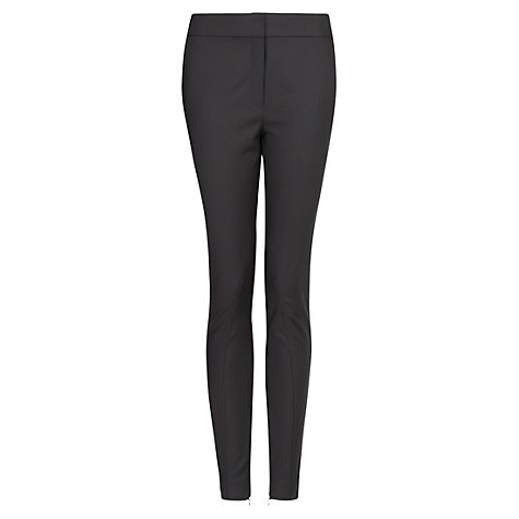 Buy Mango Slim Fit Trousers, Black Online at johnlewis.com
