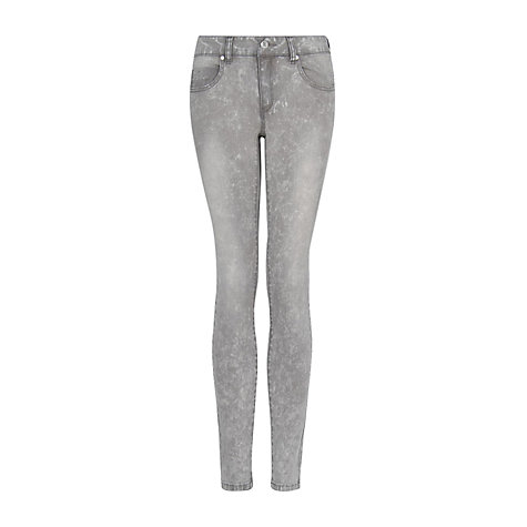 Buy Mango Super Slim Fit Pepper Jeans, Grey Online at johnlewis.com