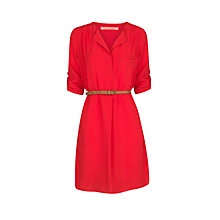 Buy Mango V-Neck Dress, Bright Red Online at johnlewis.com