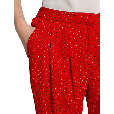 Buy Mango Baggy Trousers, Bright Red Online at johnlewis.com
