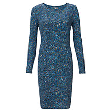 Buy Jigsaw Droplet Print Jersey Dress, Blue Online at johnlewis.com