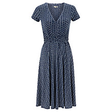 Buy Jigsaw Geometric Jersey Dress, Dark Blue Online at johnlewis.com