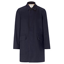 Buy Jigsaw Double Faced Cotton Raincoat, Navy Online at johnlewis.com