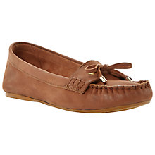 Buy Dune Lavine Bow Lace Up Moccasin, Tan Online at johnlewis.com
