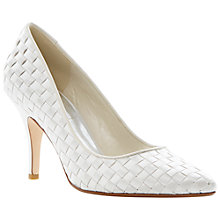 Buy Dune Beloveds Satin Woven Stiletto Court Shoes Online at johnlewis.com