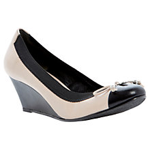 Buy Dune Atara Patent Leather Toe  Contrast Wedge Court Shoes, Cream Online at johnlewis.com