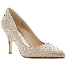 Buy Dune Bridal Beloveds Satin Woven Stiletto Court Shoes Online at johnlewis.com